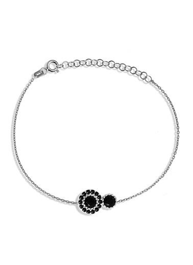 Argentum Concept Siyah Taşlı Gümüş Bileklik - B050201 Gümüş